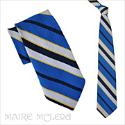 1970's Yves Saint Laurent Men's Tie - Bright Colors 4""