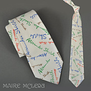 "1970's Alexander Shields Signature Vintage Tie - I. Magnin  3-3/4"""