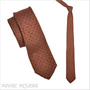 "1950's Bronzini Silk Mens Tie, Burgundy   2-1/2"""