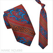 """1970's Tie // Vintage 70s Elegant SILK Brocade Tie  4"""""""