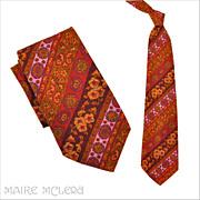 "1970's Tie // Vintage 70s Paisley Necktie 'Belly Warmer'  5"""