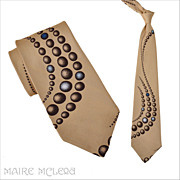 "1970's Tie // Vintage 70s Trompe L'Oeil  Tie 4"""