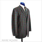 1960'S Sport Jacket // Vintage Preppy 60s Cotton Sport Jacket - Plaid