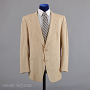1980's Sport Coat // Christian Dior Paris Raw Silk Sport Coat Jacket  44-46 L