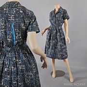 Vintage 1960's Shirtwaist Dress - S / M