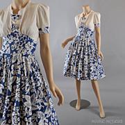 1940's Dress // Vintage Carole King Dress - XS