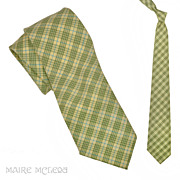 Vintage 50s Plaid / Check  Men's Tie, Grt Colors  - 3""