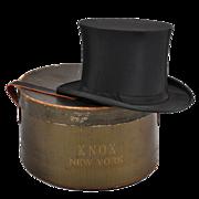 Vintage c 1920s Knox Top Hat - Collapsible Opera / Orig Box  7