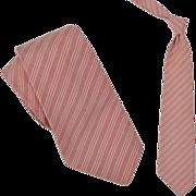 "1920s Vintage Casual Silk Stripe Tie, DG Eldridge  3-1/2"""