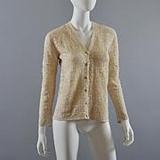 Hand Crochet Sweater 1960s, NOS Shanghai, China S