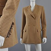 Vintage 1980s Ferre Long Jacket Blazer S