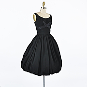 1950s Bubble Hem Cocktail Party Dress - XS / S