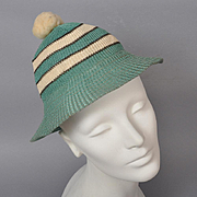Vintage 1930s Girl Scout Knit Cap Hat