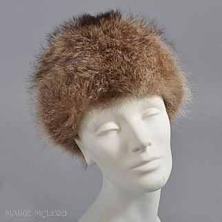 Vintage 1960s Raccoon or Fox Fur Hat - Zhivago Style