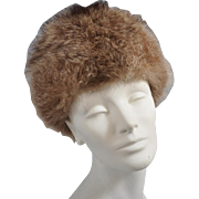Vintage 1960s Raccoon or Fox Fur Hat - Zhivago Style