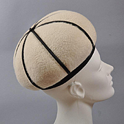 Vintage 1960s Hat -  Onion Dome Toque by André Paris, NY