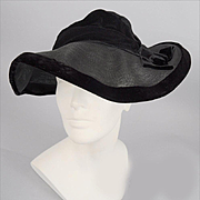 Vintage Deco 1930s Chic Slouch Hat