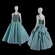 Luminous 1950s Will Steinman Evening Gown / Sequins - S / M