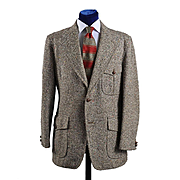 Vintage Tweed Sport Coat Jacket, Sport Back Western details - 42L