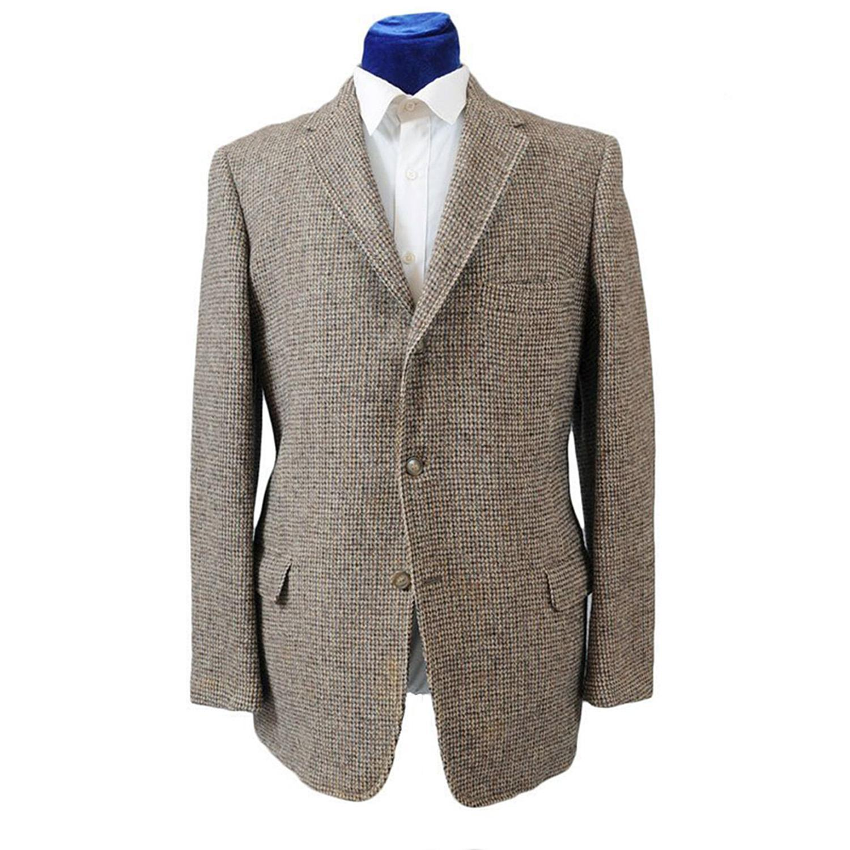 Vintage 60s Men's Checked Harris Tweed Sport Coat Jacket 41-42 ...