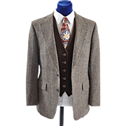 Men's Vintage Harris Tweed Sport Coat Jacket 41-42
