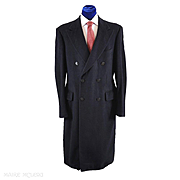 Vintage Dunhill Tailors Overcoat Chesterfield Coat 42L - SUPERB