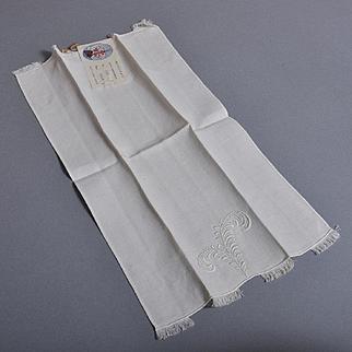 """Marghab """"Plume"""" Vintage Fingertip Towel NOS - 1 of 2"""