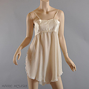 1920's Teddy Bra RARE Silk All-in-One Bra Chemise - Dorothy Bickman