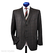 1960's Hart Schaffner Marx Cotton Plaid Sport Coat - 44