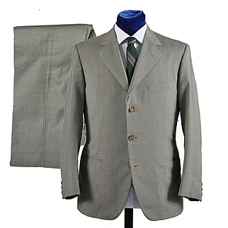 Vintage 1950s Mens Suit 2 pc 3 button,  by Marzotto  - 40
