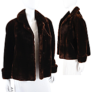 Vintage Womens Mouton Lamb Jacket Coat 1940s - Famous Barr