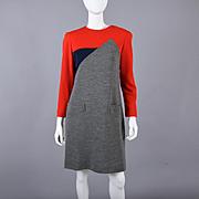Designer Helga Vintage 70s Color Block Dress S / M