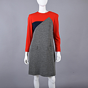 Designer Helga Vintage 70s Color Block Dress S / M