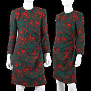 Vintage Helga 1980s Ruched Sheath Dress M