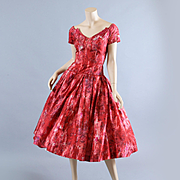 1950s Silk Party Cocktail Dress, Neiman Marcus S