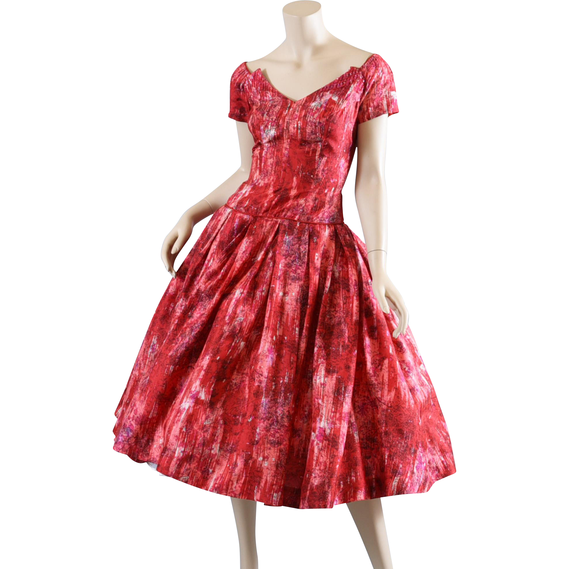 1950s Silk Party Cocktail Dress Neiman Marcus S From
