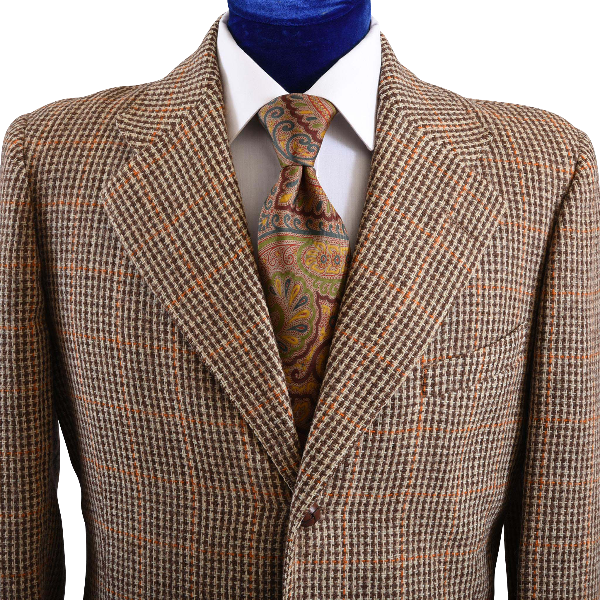 Mens 1940s 50s Houndstooth Tweed Jacket 40 L From