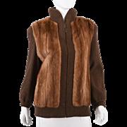 Vintage 80s Women's Mink Sweater - M Muscalus Furs