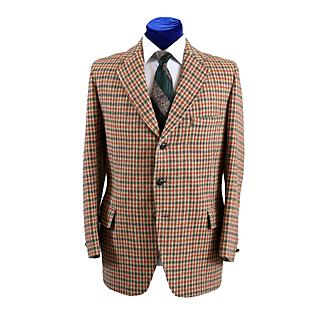 Unique 1960s Harris Tweed Check Mens Sport Coat Jacket 43-44