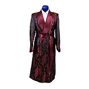 1940s Mens Satin Dressing Gown Robe M - L