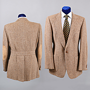 Vintage Balmain Tweed Sport Coat - Sport Norfolk Back 38-40L