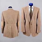 Vintage Balmain Tweed Sport Coat - Sport Norfolk Back 38-40L