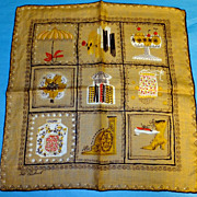 Pat Prichard Never Used Vintage Shopping Hankie