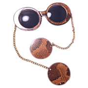1960s Vintage Rare sunglasses with chains and faux earrings