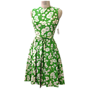 1960s 100% silk designer dress by Townley with original tags