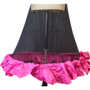 Antique farthingale hoopskirt with unusual straps and color