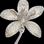 Vintage 1950s rare Nettie Rosenstein Windstone trembler flower brooch