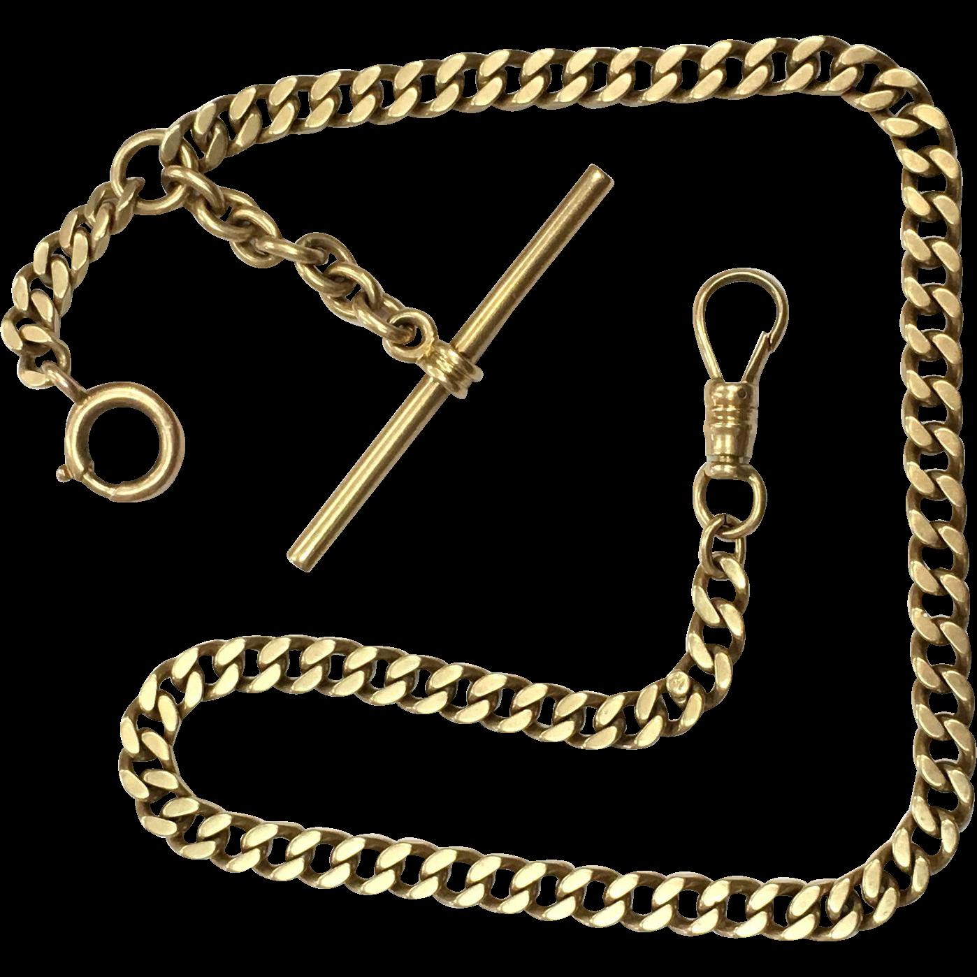 Antique Victorian 14K Prince Albert Watch Chain