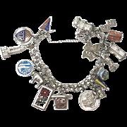 Vintage 1960s Sterling Silver Charm Bracelet