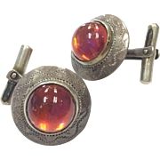 Vintage Dragons Breath Arts n' Crafts signed Mexican cufflinks